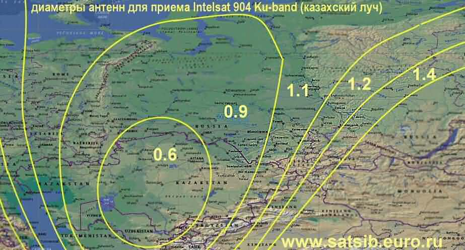 map Intelsat 904